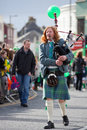 Bagpipes musician Stock Photos