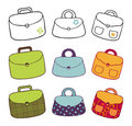 Bags collection Royalty Free Stock Photography