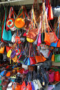 Bags at market stall Stock Images