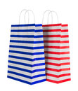 Bags for shopping on white Stock Photo