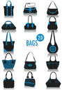 Bags silhouettes 2 Royalty Free Stock Photo