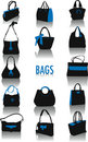 Bags silhouettes Royalty Free Stock Photo