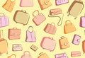 Bags and suitcases doodles background Royalty Free Stock Photography
