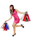 Bags in their hands happy woman and a lot of shopping Stock Photography