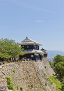 Bagu (Horse Gear) Turret of Matsuyama castle, Japan Royalty Free Stock Photo