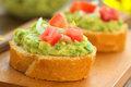 Baguette with Avocado and Tomato Royalty Free Stock Image