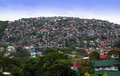 Baguio philippines overpopulation thousands of homes and other buildings crowd the mountainsides of causing severe environmental Royalty Free Stock Photography