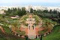 The bahá'í gardens haifa terraces of bahá í faith also known as hanging of are garden terraces around shrine of báb on Stock Image