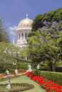 Baha i temple in haifa the tomb of the bab one of the central figures of the baha i faith israel Royalty Free Stock Photo