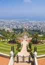 Bahai gardens Royalty Free Stock Photo