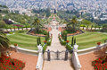 Bahai gardens Royalty Free Stock Photo