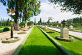 Bahai gardens acre the in israel these are on unesco world heritage list Royalty Free Stock Image