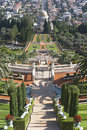 The bahai gardens in city of haifa israel Royalty Free Stock Photos