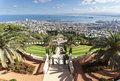 The bahai gardens in city of haifa israel Stock Images