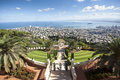The bahai gardens in city of haifa israel Stock Image
