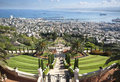 The bahai gardens in city of haifa israel Royalty Free Stock Photography