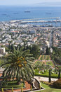 The bahai gardens in city of haifa israel Stock Photography