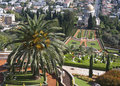 The bahai gardens in city of haifa israel Royalty Free Stock Images