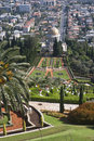 The bahai gardens in city of haifa israel Royalty Free Stock Photo
