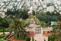 The Bahai Gardens in Haifa Israel Stock Photos