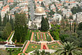 Bahai gardens haifa israel in Royalty Free Stock Images