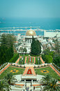 Bahai gardens haifa israel in Stock Photo
