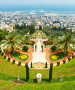 Bahai gardens in haifa israel Royalty Free Stock Images