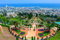 Bahai gardens in haifa israel a beautiful picture of the Royalty Free Stock Images