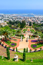Bahai gardens in haifa israel a beautiful picture of the Stock Photography