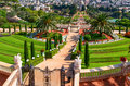 Bahai gardens in haifa israel a beautiful picture of the Stock Images