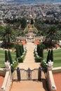 Bahai Gardens, Shrine of the Bab and Haifa Royalty Free Stock Photo