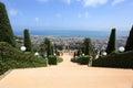 Bahai Gardens Staircase on Mount Carmel Royalty Free Stock Photo