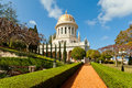 Bahai gardens and temple golden dome stock photo Stock Photography