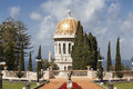 Bahai gardens and temple on the slopes of the Carmel Mountain, Haifa Royalty Free Stock Photo