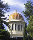 Bahai historical temple haifa Stock Photography