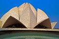 Bahai lotus temple trmple in new delhi india Royalty Free Stock Photography