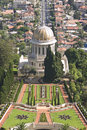 The bahai shrine of the bab in gardens haifa israel Royalty Free Stock Photography