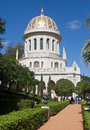 The bahai shrine of the bab in gardens haifa israel Stock Photo