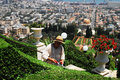 The bahai shrines in haifa israel isr july is gardening garden of temple on july baha i faith was founded iran by mirza husayn Stock Image