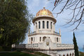Bahai Temple and gardens Royalty Free Stock Photo