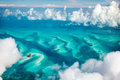 Bahamas aerial beautiful view of islands from above Stock Photos