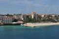 Bahamas pier landscape in nassau city caribbean Royalty Free Stock Images