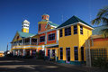 Bahamas pier landscape in nassau city caribbean Stock Photos
