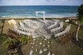 Bahamas wedding site, overhead view Royalty Free Stock Photo