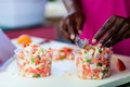 Bahamian conch salad Royalty Free Stock Image