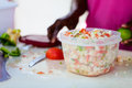 Bahamian conch salad Stock Images