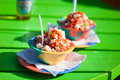 Bahamian conch salad two bowls of Royalty Free Stock Photos