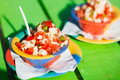 Bahamian conch salad two bowls of Stock Image