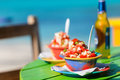 Bahamian conch salad Royalty Free Stock Photo