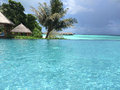 Bahamian islands of maldives you a beautiful landscape the address the peace Stock Photo